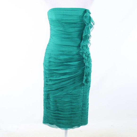 Tadashi Shoji Dresses & Skirts - Tadashi green silk wiggle dress 6